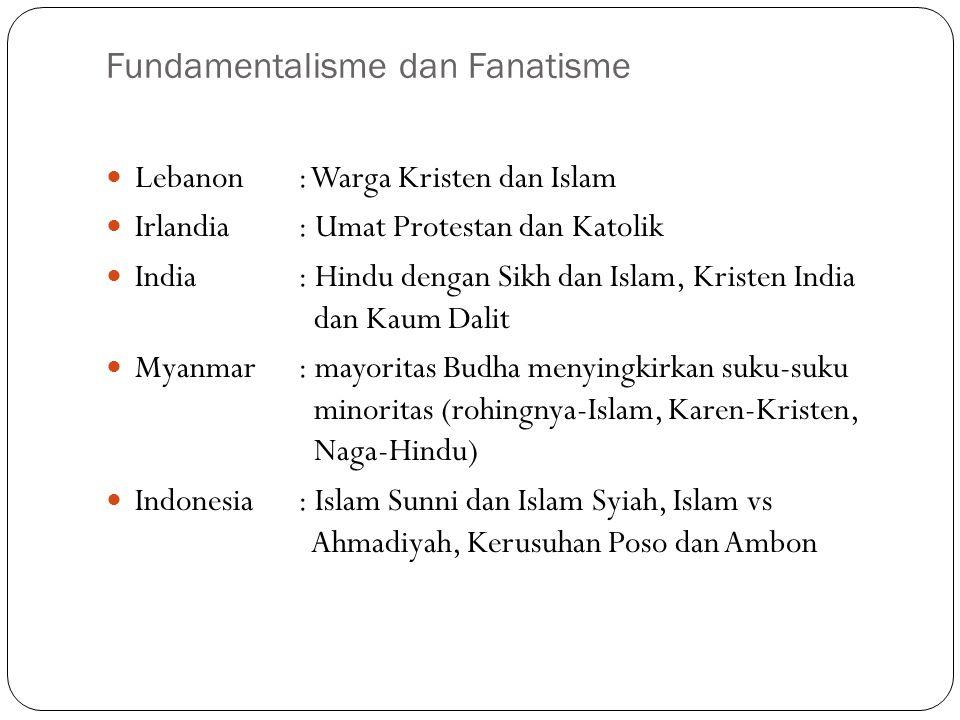 Fundamentalisme dan Fanatisme