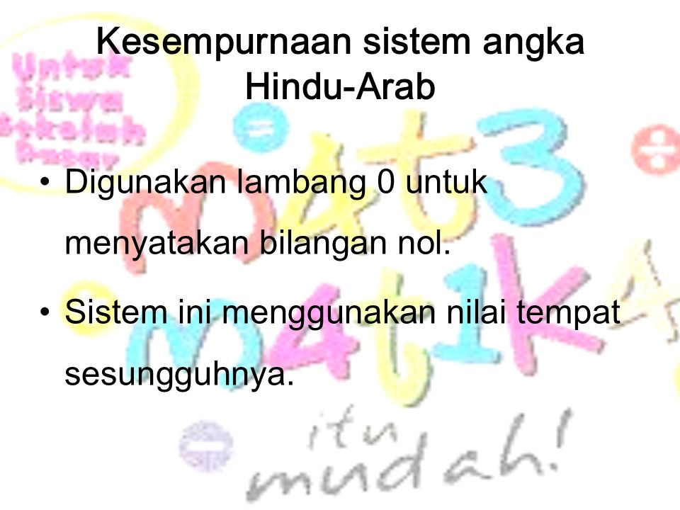 Kesempurnaan sistem angka Hindu-Arab