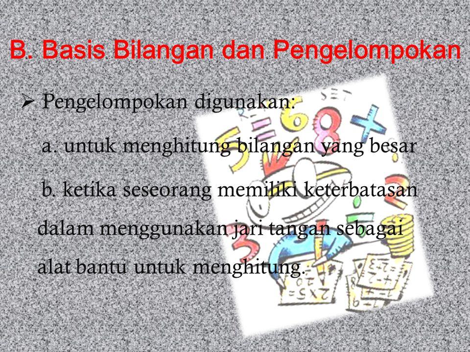 B. Basis Bilangan dan Pengelompokan