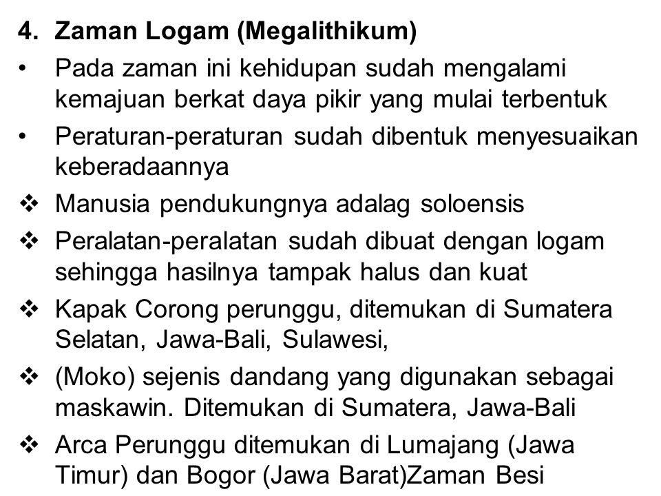 Zaman Logam (Megalithikum)