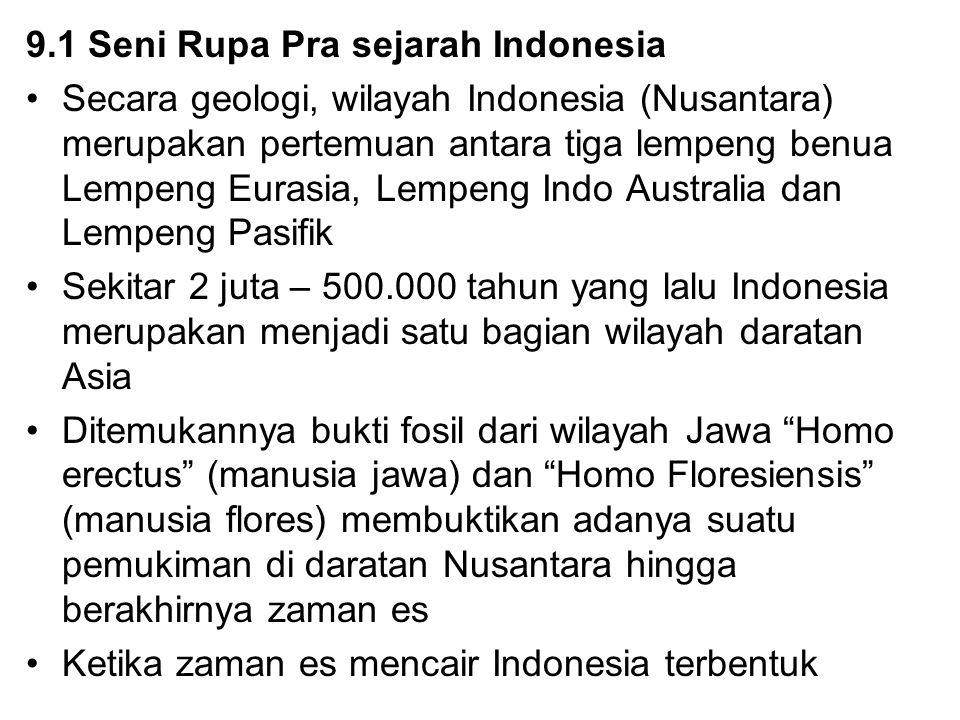 9.1 Seni Rupa Pra sejarah Indonesia