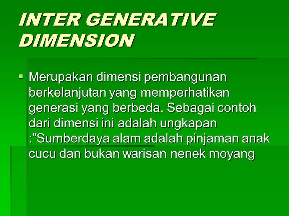 INTER GENERATIVE DIMENSION