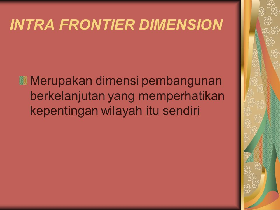 INTRA FRONTIER DIMENSION