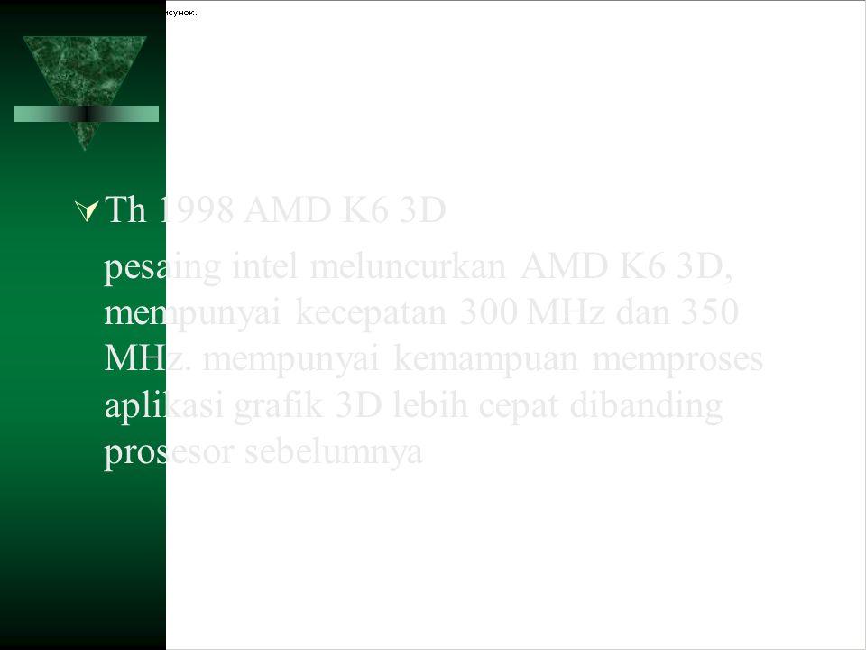 Th 1998 AMD K6 3D