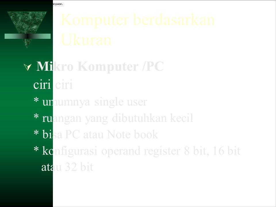 Komputer berdasarkan Ukuran