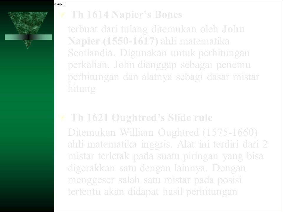 Th 1614 Napier's Bones