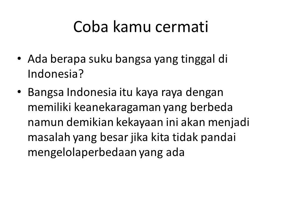 Coba kamu cermati Ada berapa suku bangsa yang tinggal di Indonesia