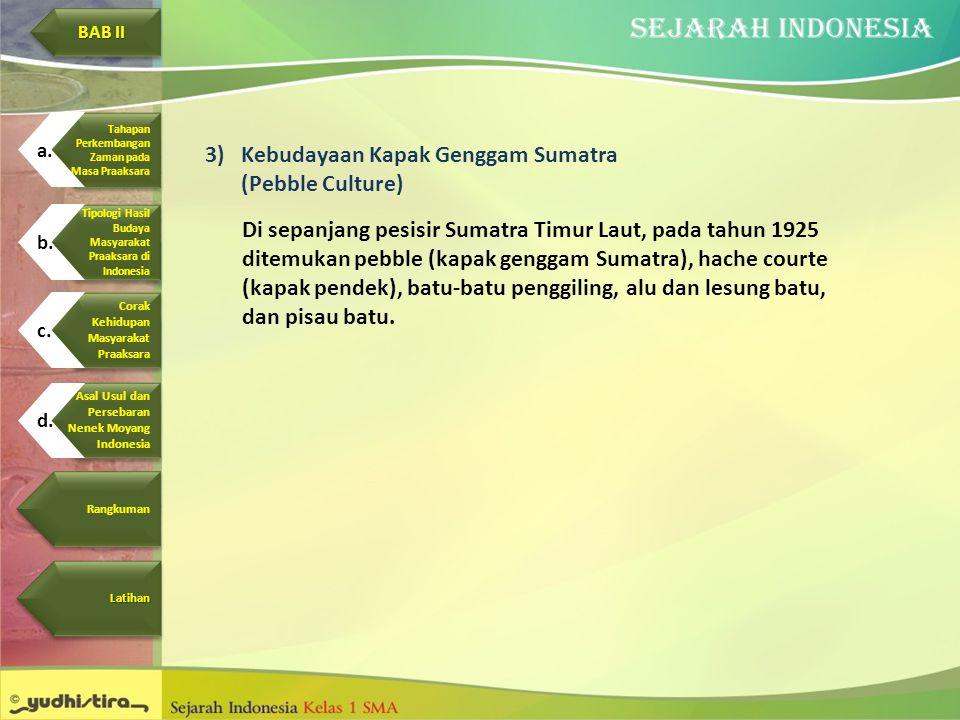 Kebudayaan Kapak Genggam Sumatra (Pebble Culture)