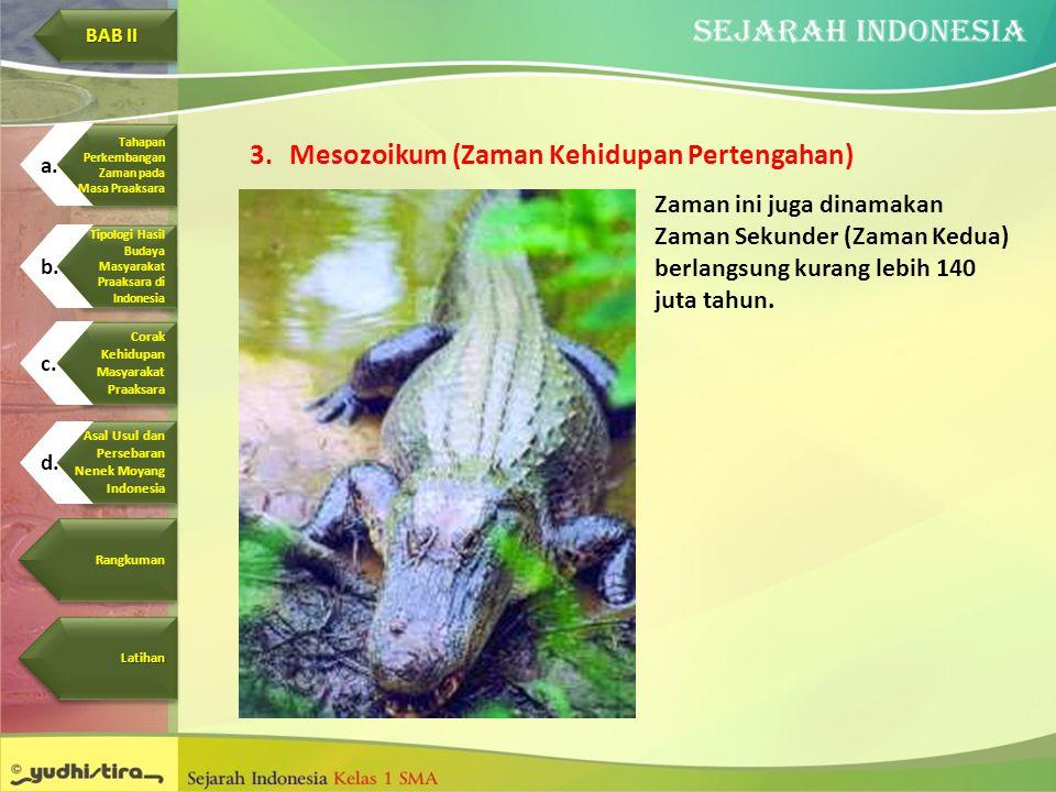 Mesozoikum (Zaman Kehidupan Pertengahan)