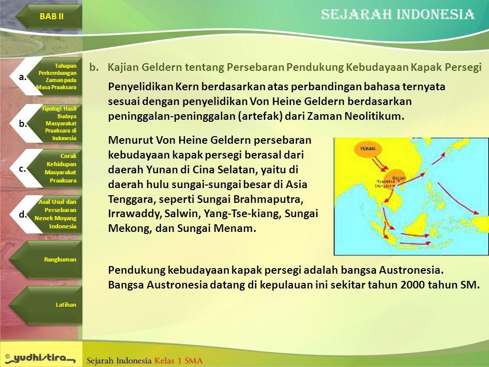 Kajian Geldern tentang Persebaran Pendukung Kebudayaan Kapak Persegi