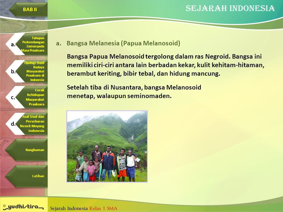 Bangsa Melanesia (Papua Melanosoid)