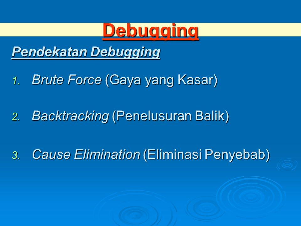 Debugging Pendekatan Debugging Brute Force (Gaya yang Kasar)