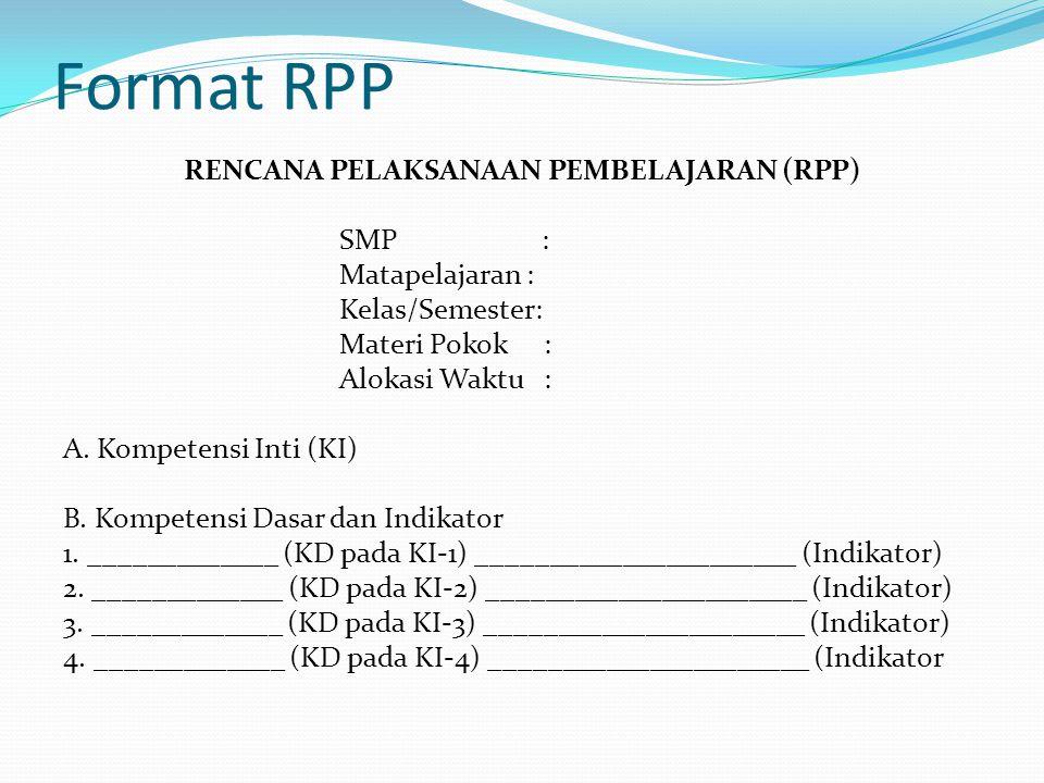 Format RPP
