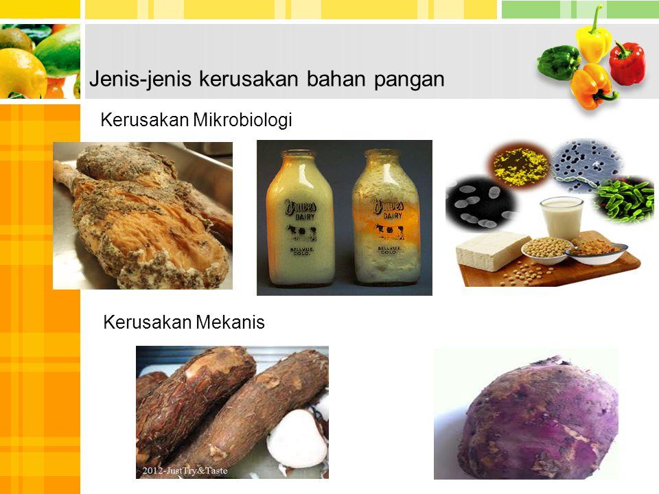 Jenis-jenis kerusakan bahan pangan
