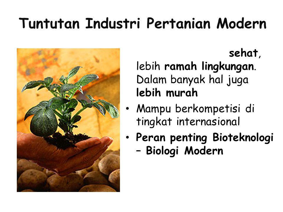 Tuntutan Industri Pertanian Modern