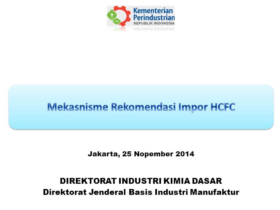 Mekasnisme Rekomendasi Impor HCFC