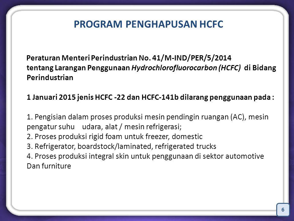 PROGRAM PENGHAPUSAN HCFC