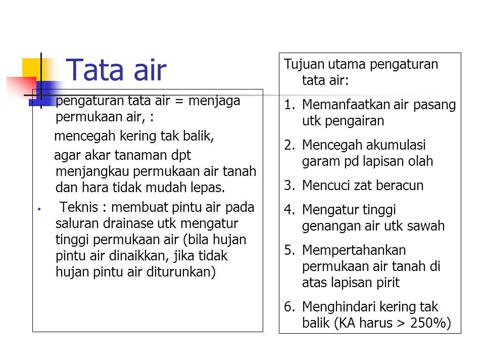 Tata air Tujuan utama pengaturan tata air: