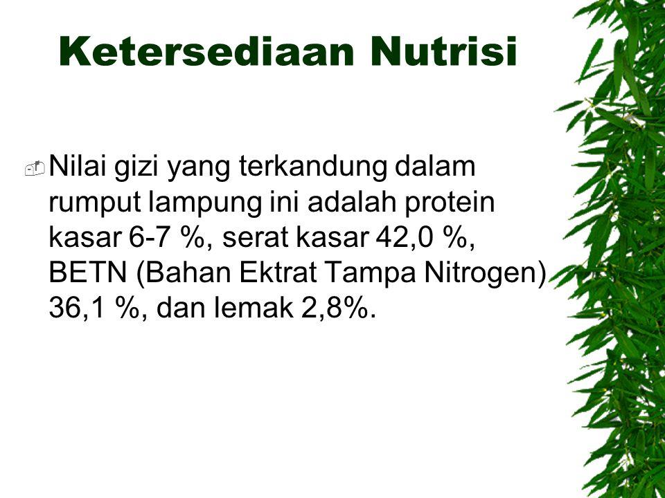 Ketersediaan Nutrisi
