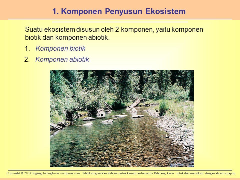 1. Komponen Penyusun Ekosistem