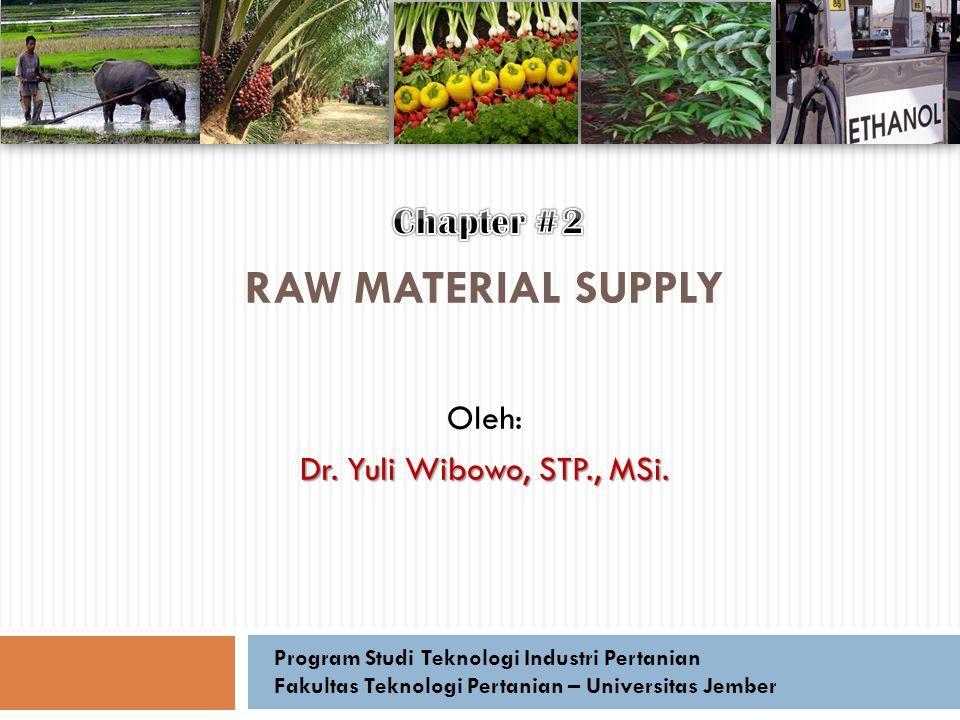 Oleh: Dr. Yuli Wibowo, STP., MSi.
