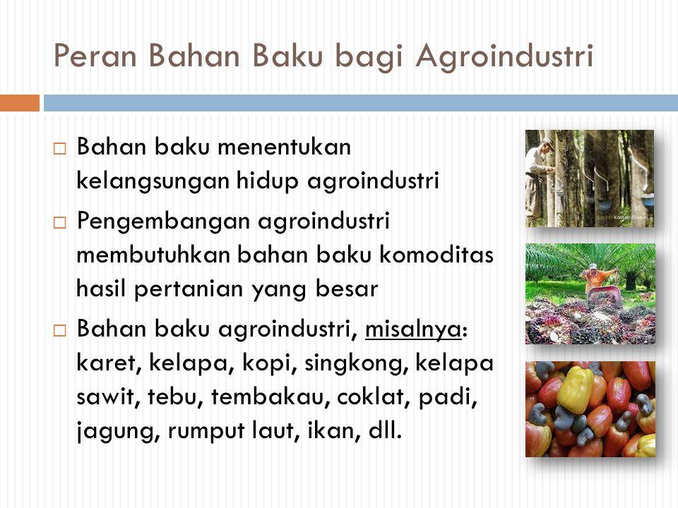 Peran Bahan Baku bagi Agroindustri