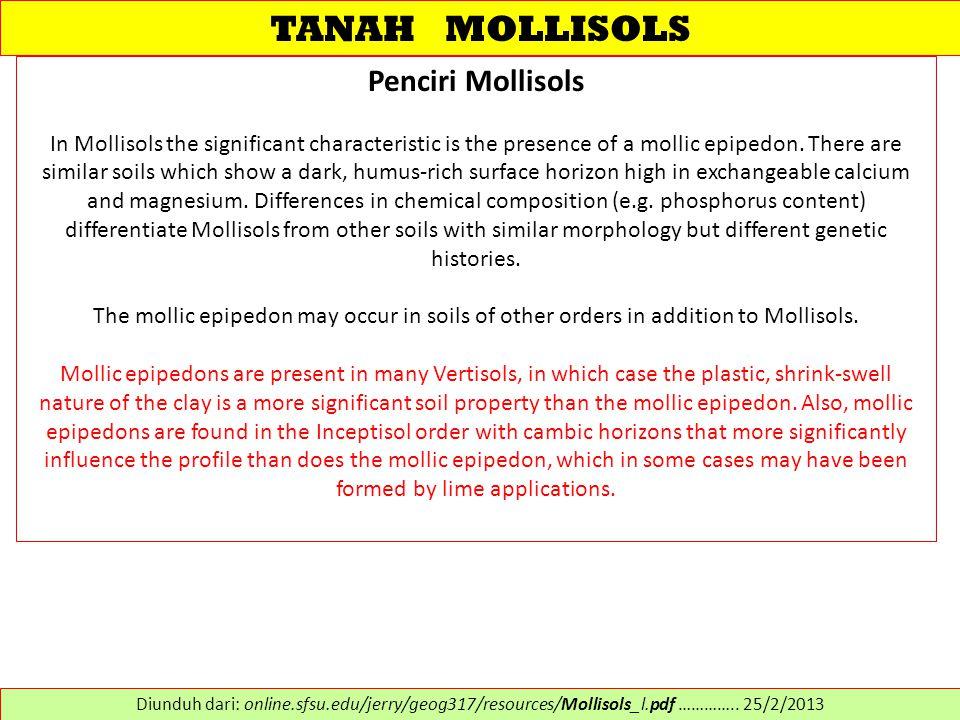 TANAH MOLLISOLS Penciri Mollisols
