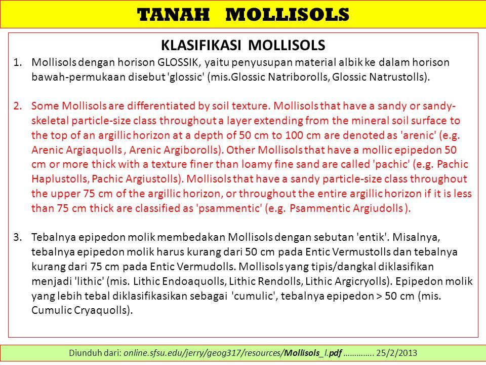 KLASIFIKASI MOLLISOLS