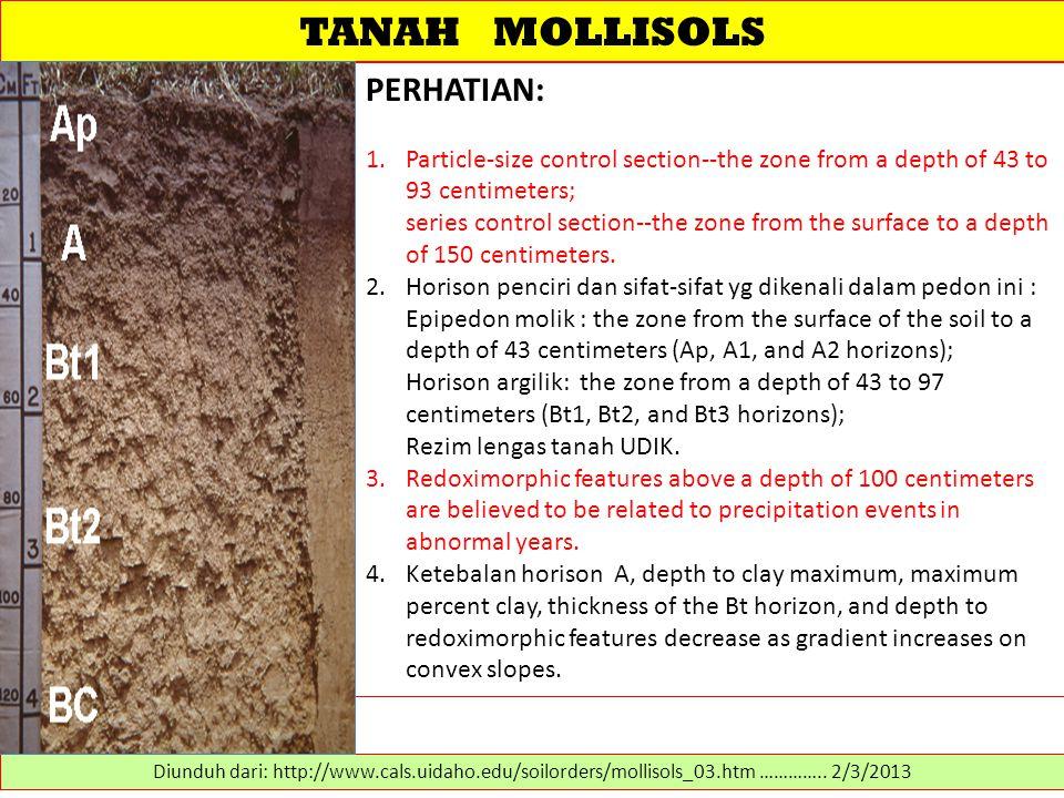 TANAH MOLLISOLS PERHATIAN: