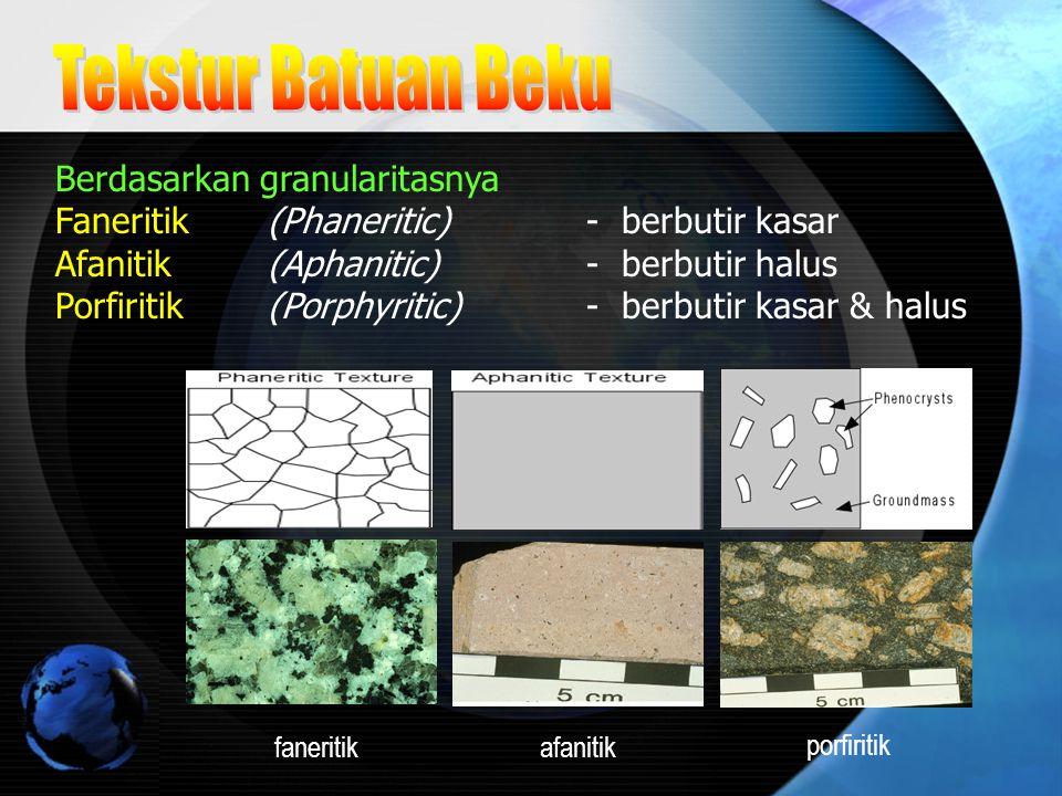 Tekstur Batuan Beku Berdasarkan granularitasnya