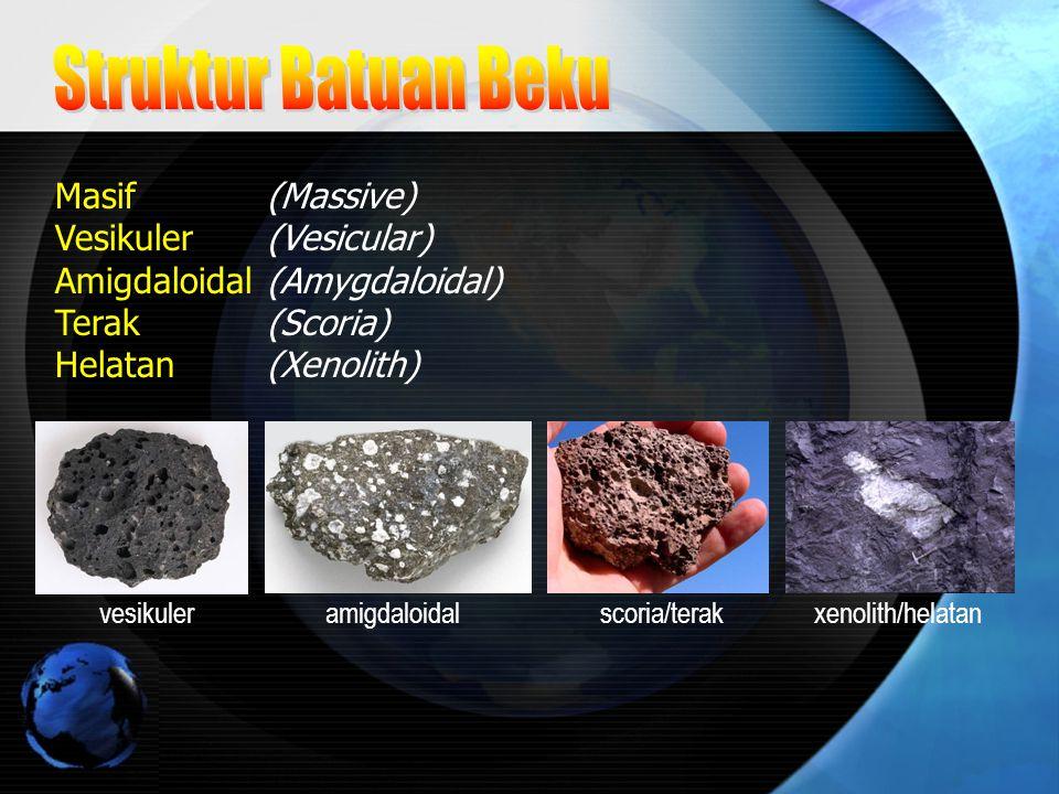 Struktur Batuan Beku Masif (Massive) Vesikuler (Vesicular)