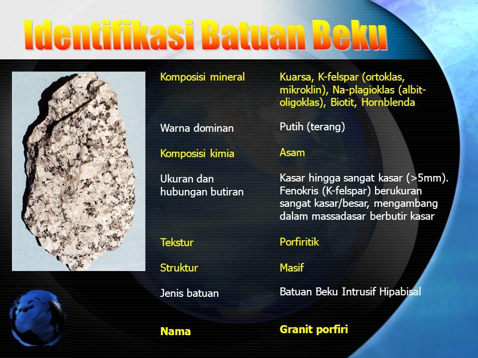 Identifikasi Batuan Beku