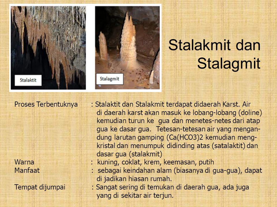 Stalakmit dan Stalagmit