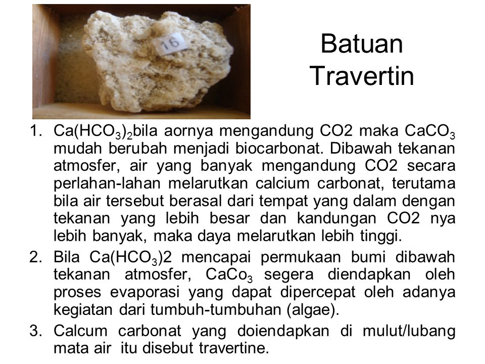 Batuan Travertin