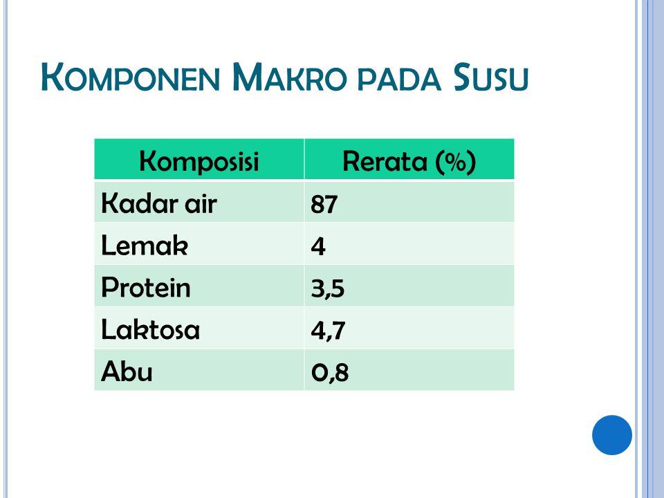 Komponen Makro pada Susu