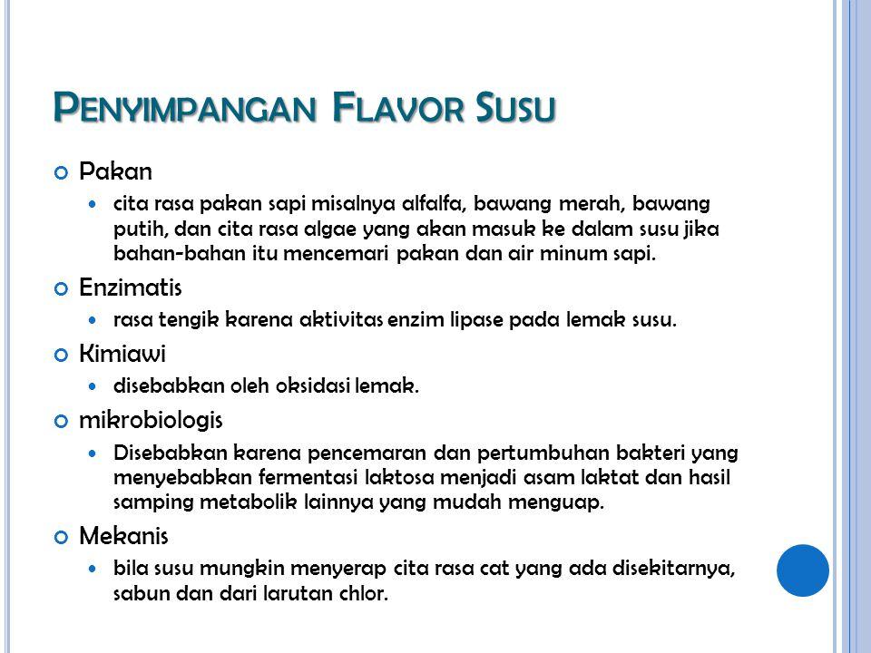 Penyimpangan Flavor Susu