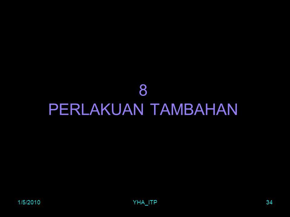 8 PERLAKUAN TAMBAHAN 1/5/2010 YHA_ITP