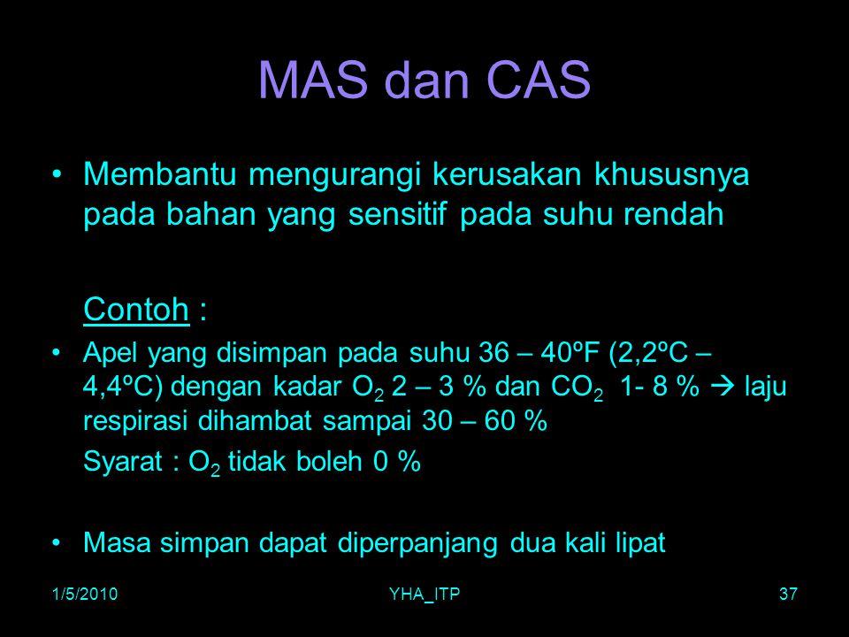 MAS dan CAS Membantu mengurangi kerusakan khususnya pada bahan yang sensitif pada suhu rendah. Contoh :