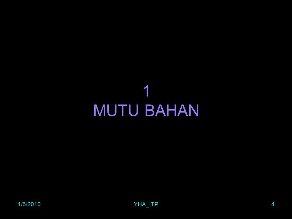 1 MUTU BAHAN 1/5/2010 YHA_ITP