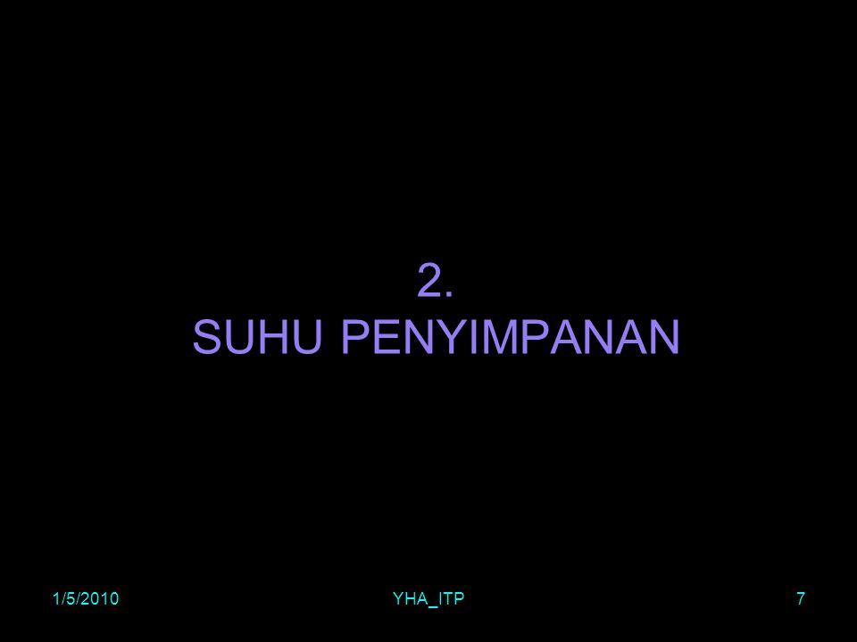 2. SUHU PENYIMPANAN 1/5/2010 YHA_ITP