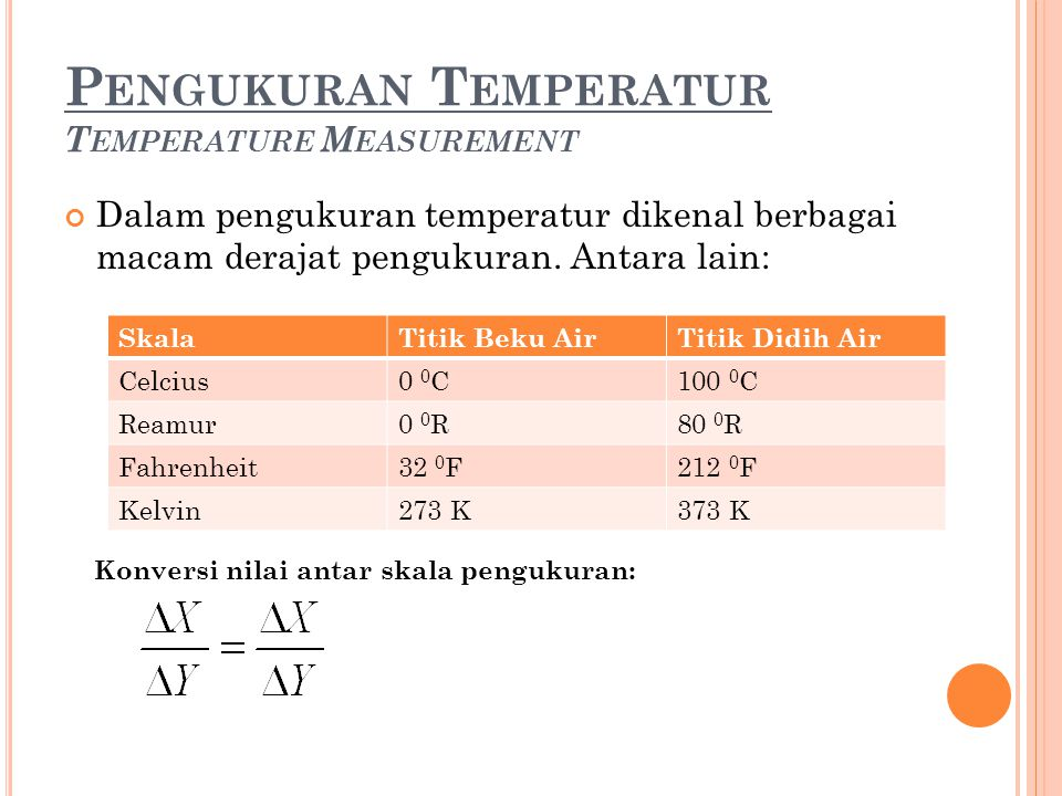 Pengukuran Temperatur Temperature Measurement