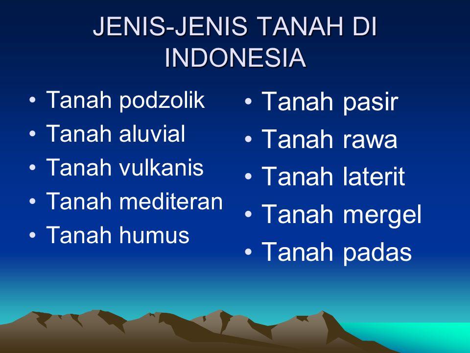 JENIS-JENIS TANAH DI INDONESIA