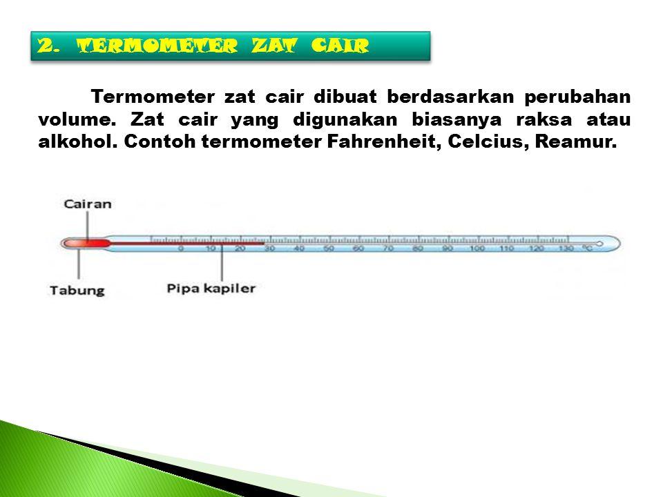 2. TERMOMETER ZAT CAIR