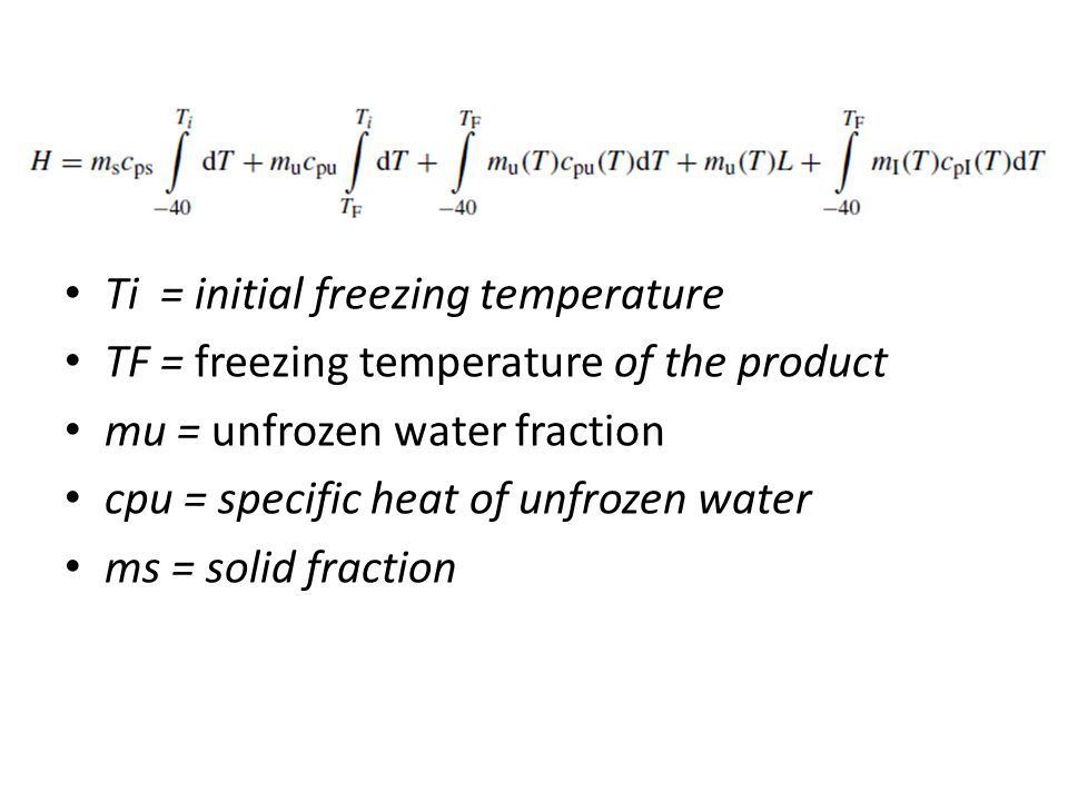 Ti = initial freezing temperature