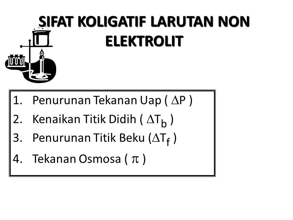 SIFAT KOLIGATIF LARUTAN NON ELEKTROLIT