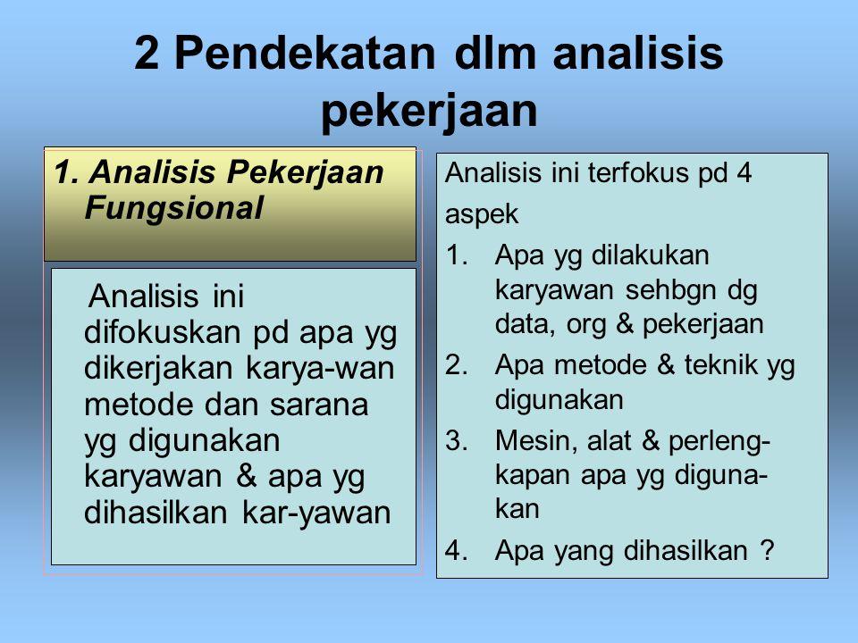 2 Pendekatan dlm analisis pekerjaan