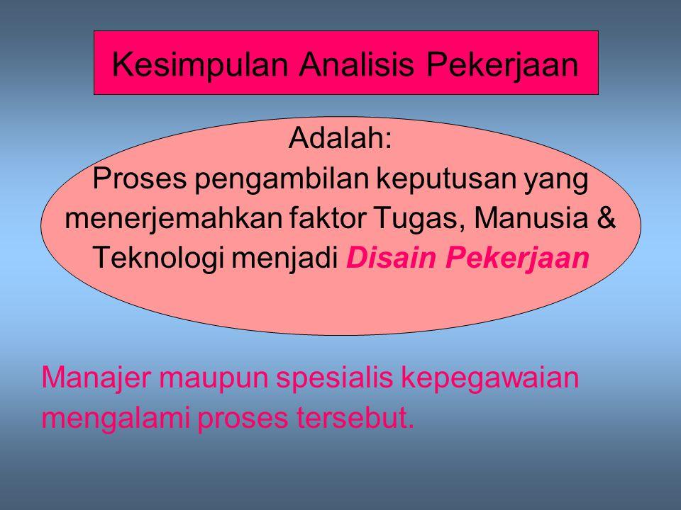 Kesimpulan Analisis Pekerjaan