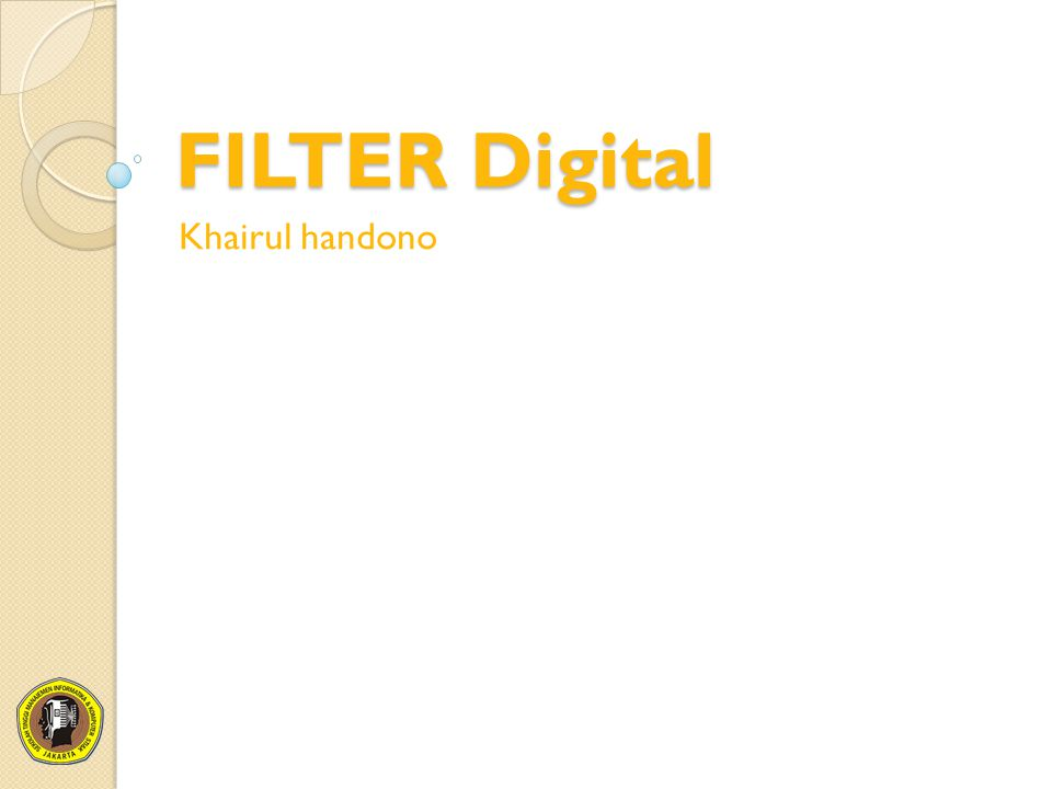FILTER Digital Khairul handono