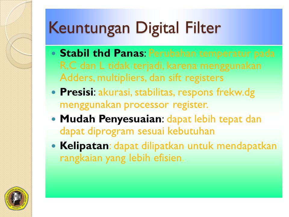 Keuntungan Digital Filter
