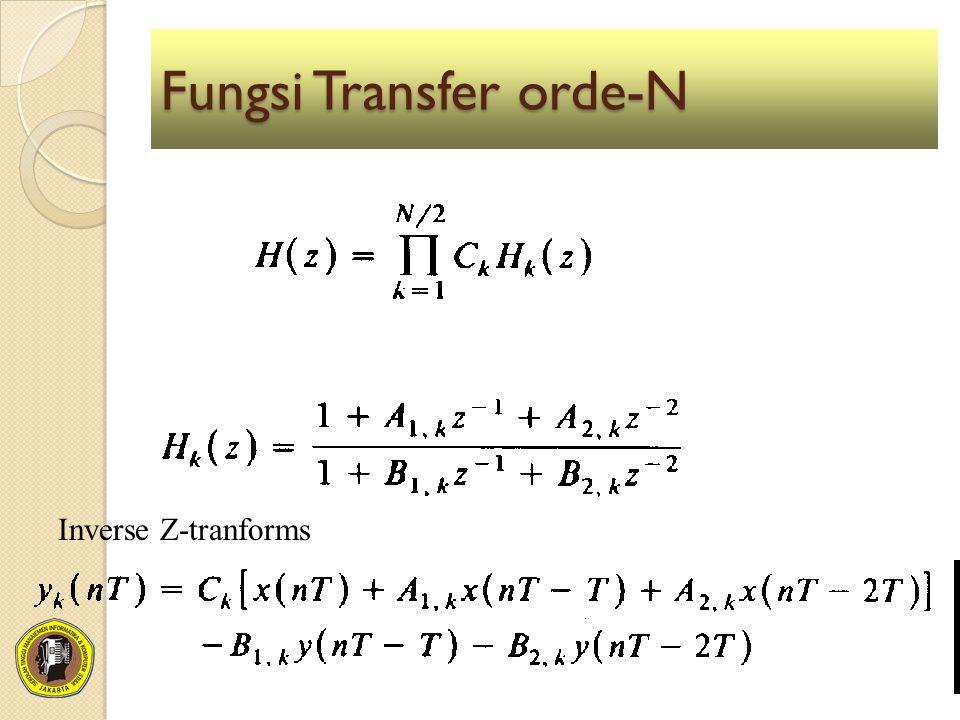Fungsi Transfer orde-N